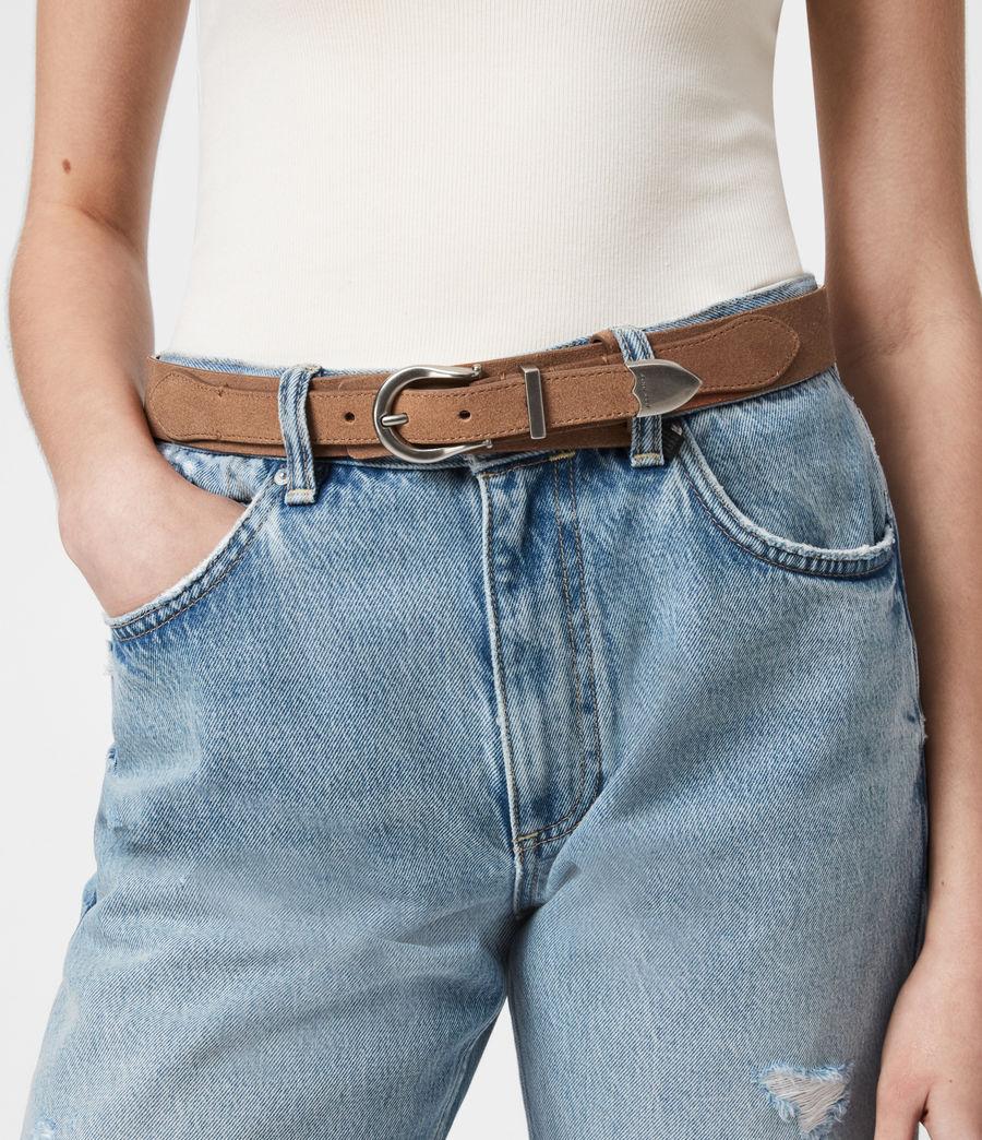 Women's Evelyn Leather Belt (camel) - Image 2