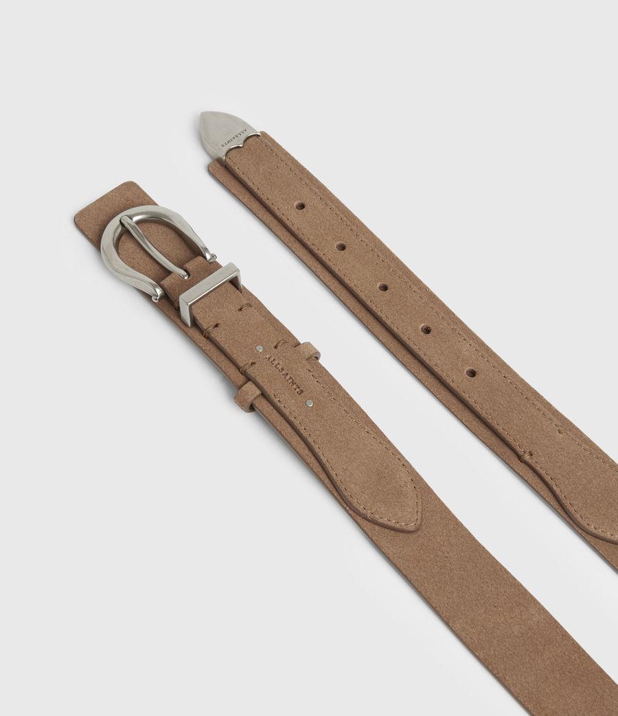 Women's Evelyn Leather Belt (camel) - Image 3