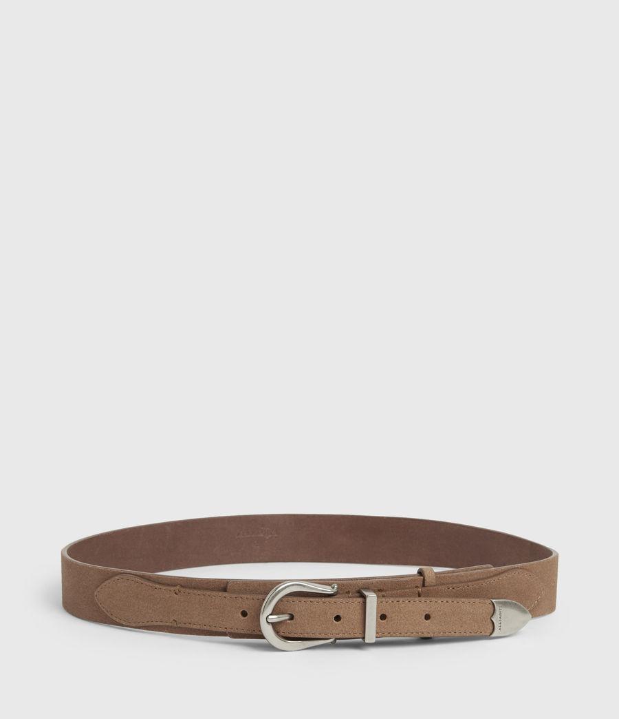 Women's Evelyn Leather Belt (camel) - Image 4