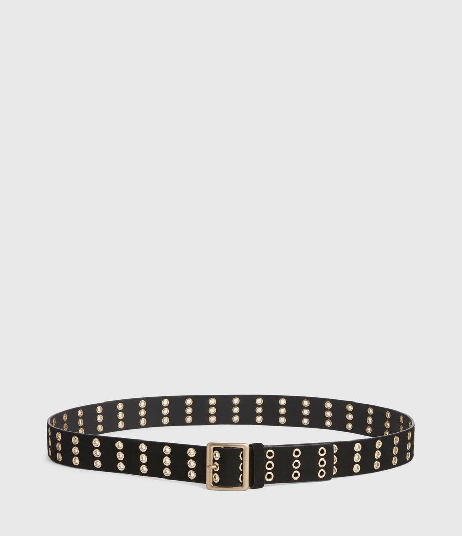Womens Juniper Leather Belt (black_gold) - Image 4