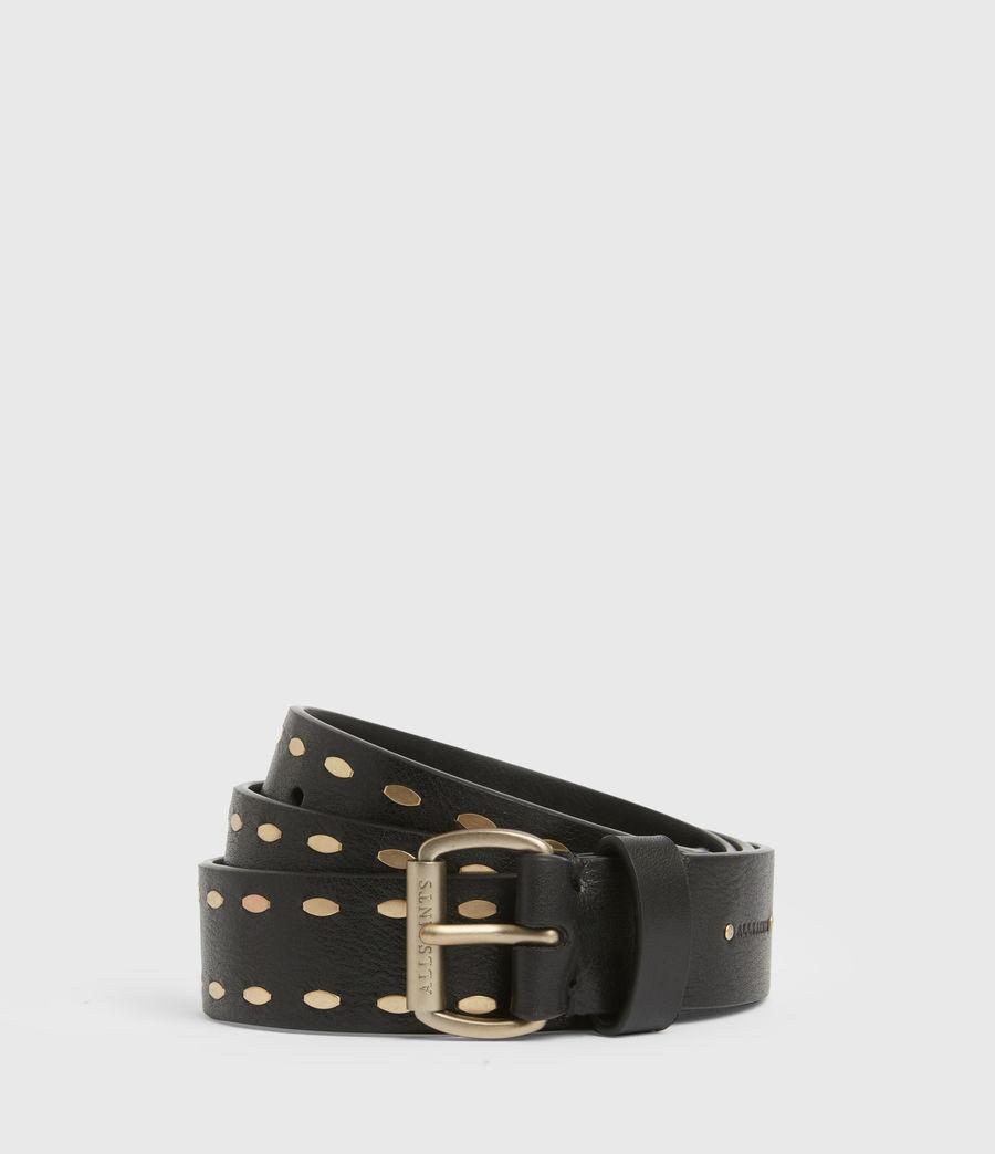 Women's Sophia Leather Belt (black) - Image 2