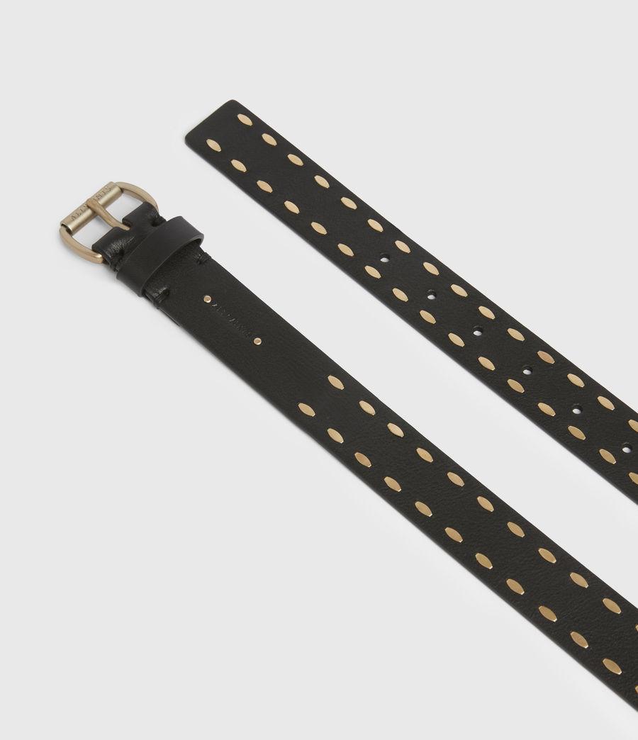 Women's Sophia Leather Belt (black) - Image 3