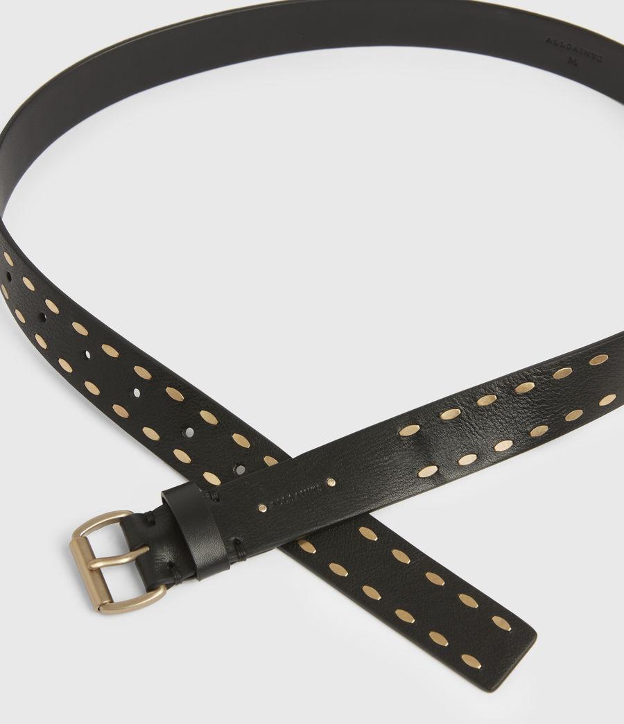 Women's Sophia Leather Belt (black) - Image 4