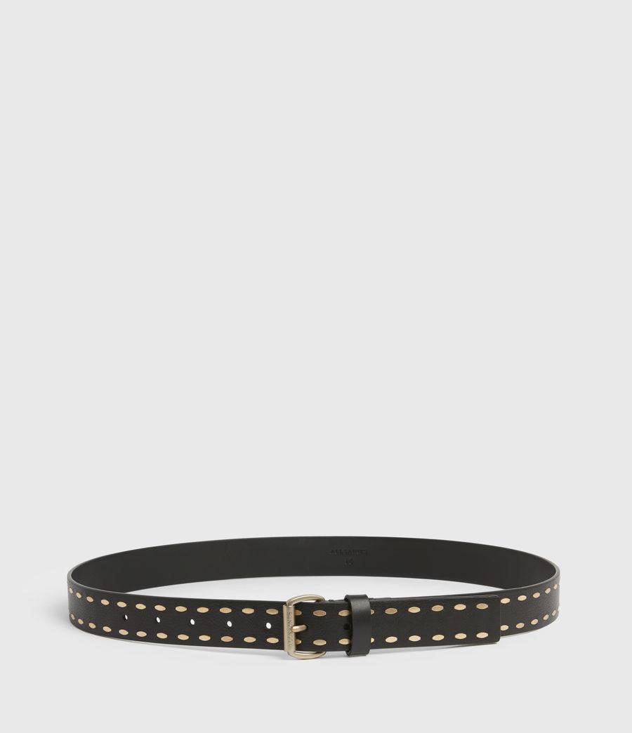 Women's Sophia Leather Belt (black) - Image 5