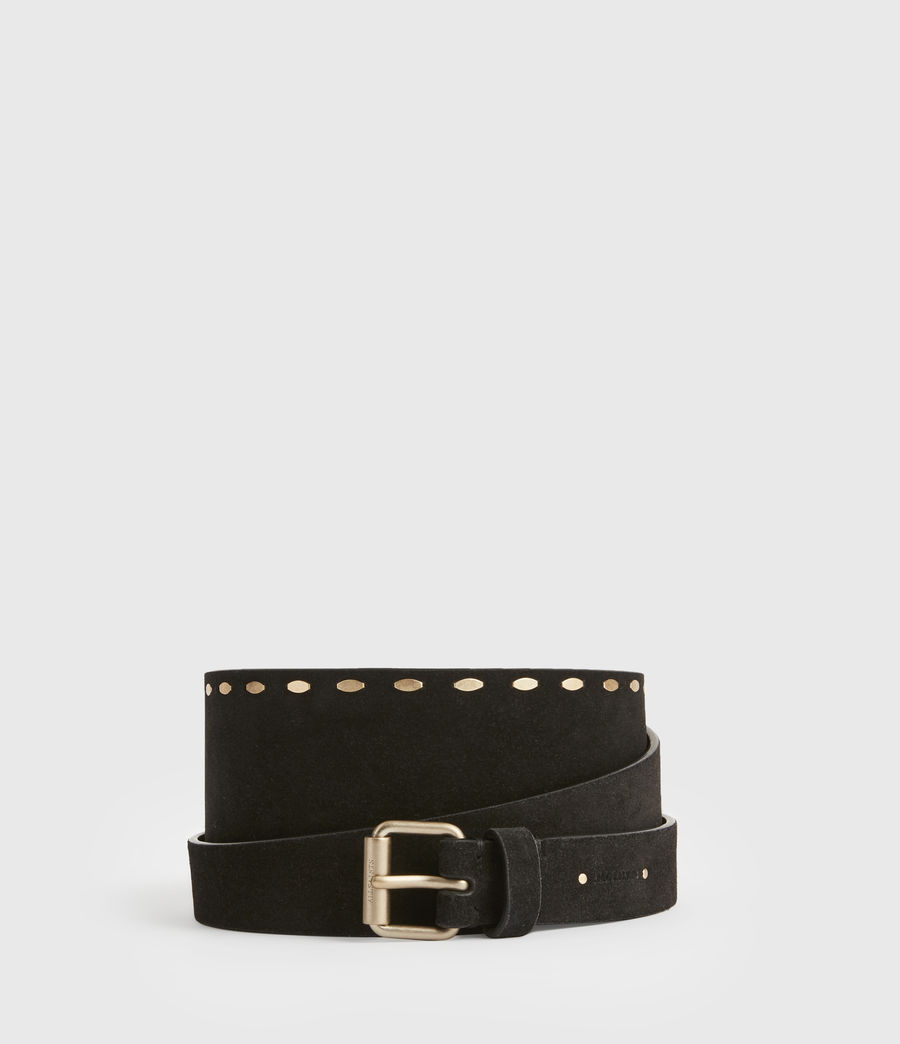 Women's Ava Leather Belt (black) - Image 1