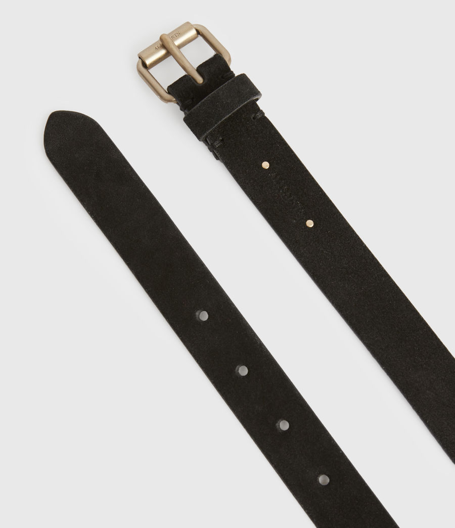 Women's Ava Leather Belt (black) - Image 2