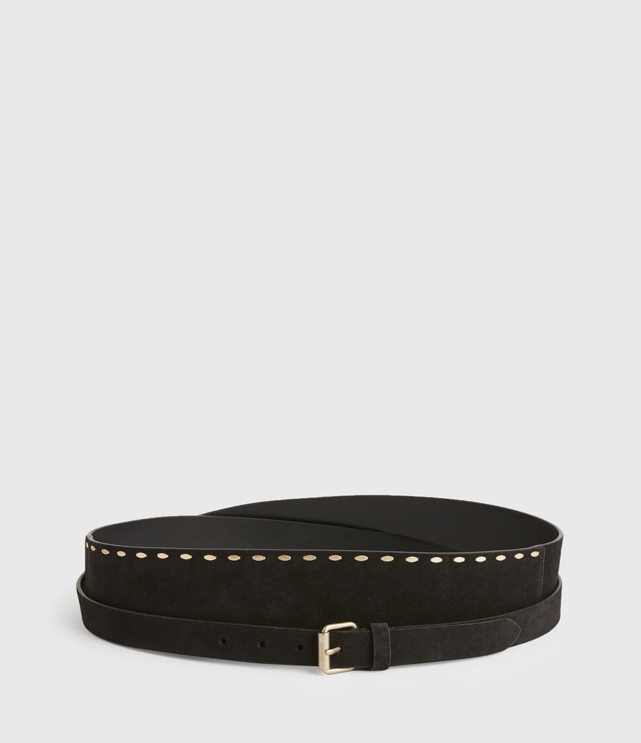 Women's Ava Leather Belt (black) - Image 3