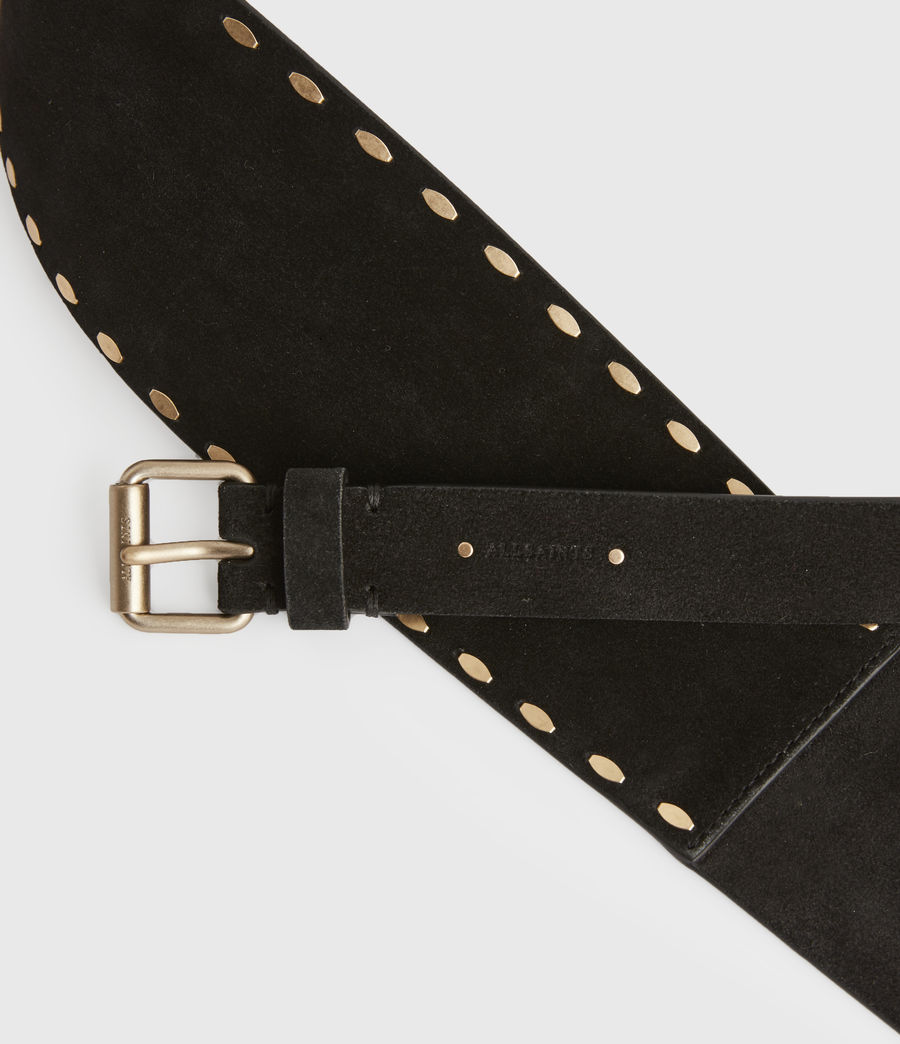 Women's Ava Leather Belt (black) - Image 4
