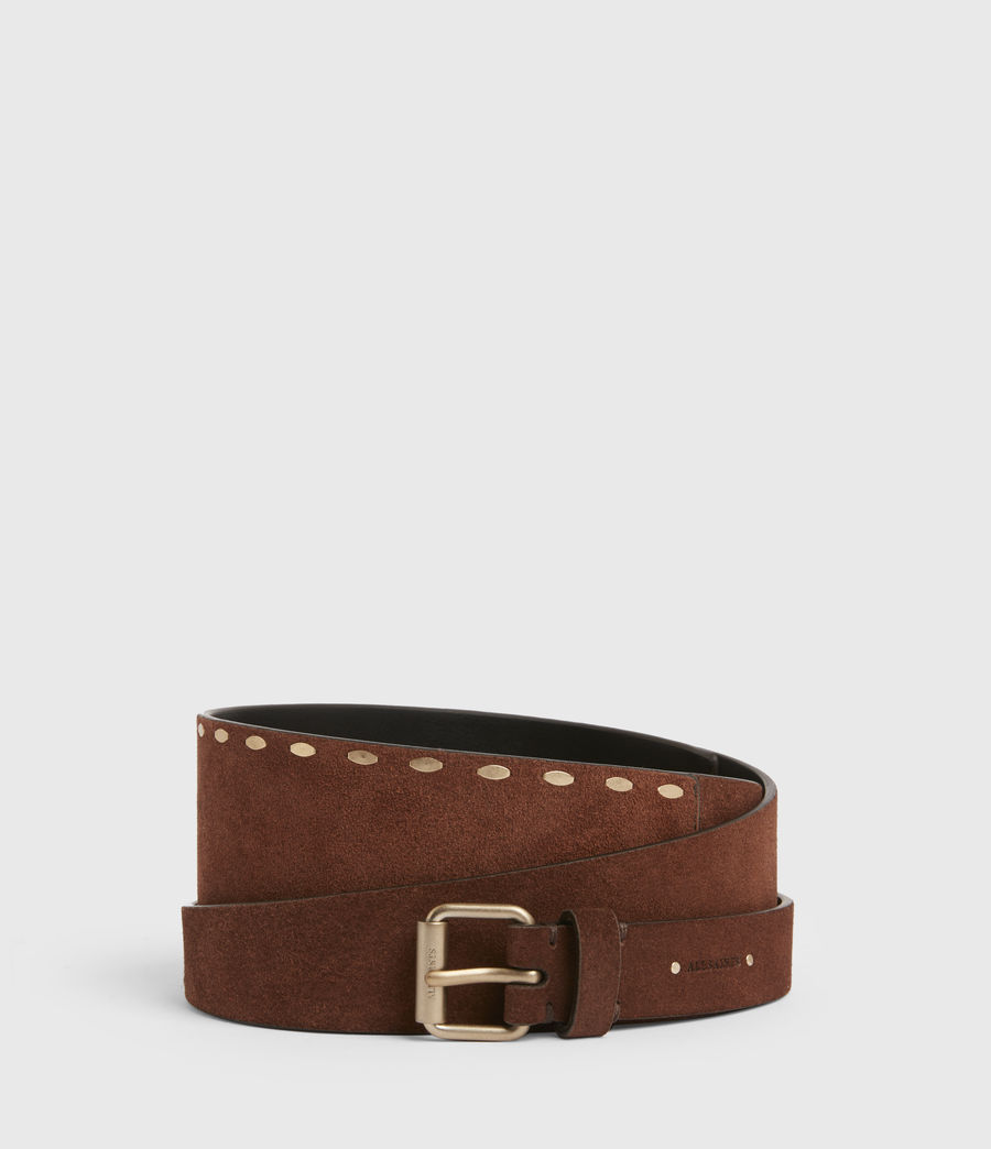Women's Ava Leather Belt (brandy_brown) - Image 1