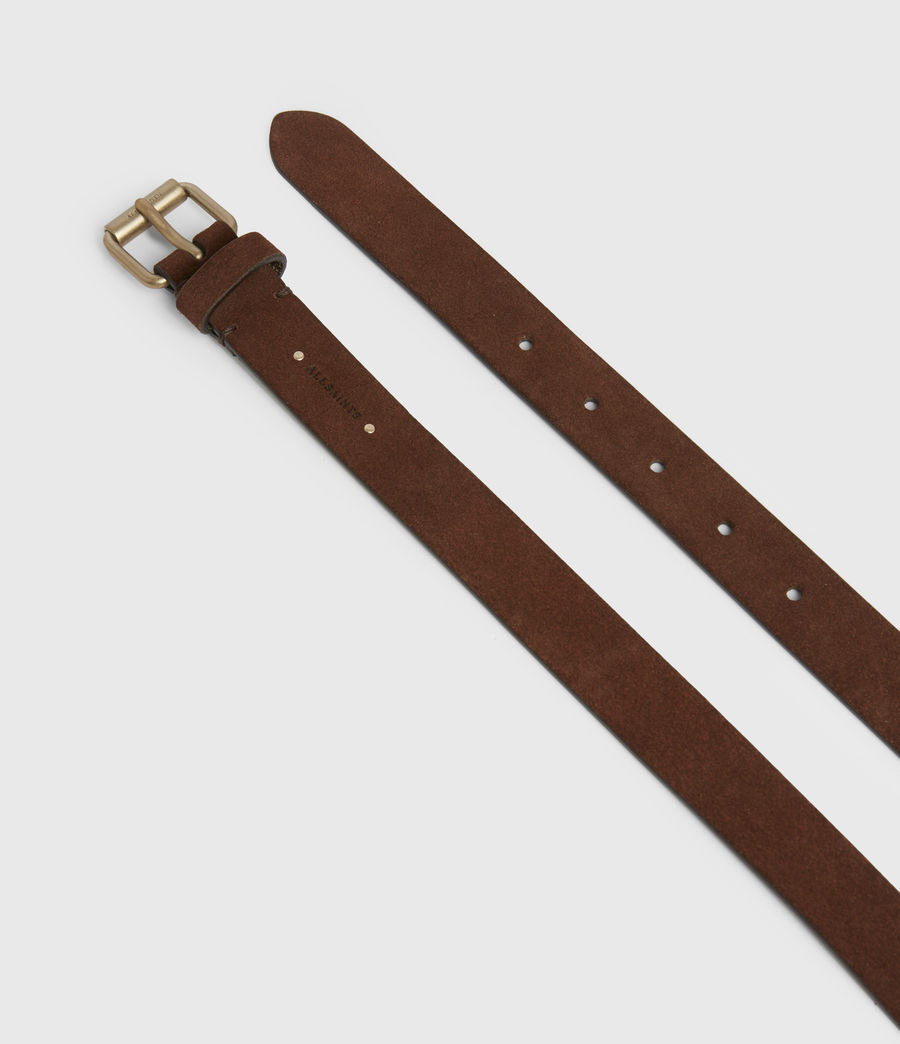 Women's Ava Leather Belt (brandy_brown) - Image 3