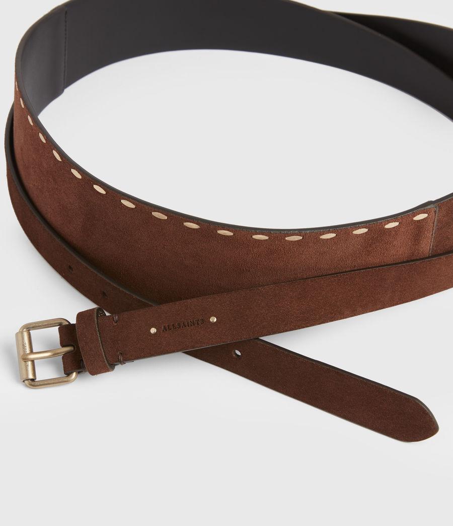 Women's Ava Leather Belt (brandy_brown) - Image 5
