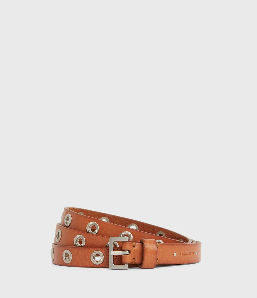 Women's Emily Leather Belt (camel) - Image 2