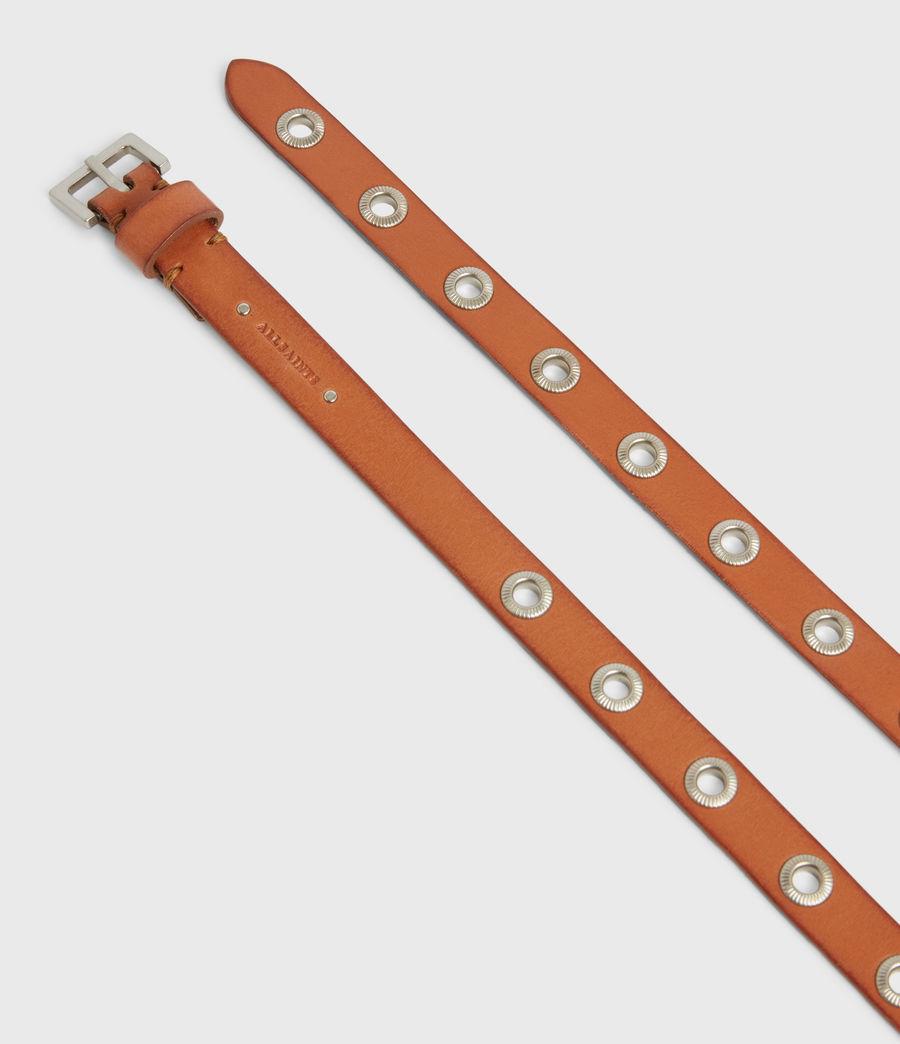 Women's Emily Leather Belt (camel) - Image 3