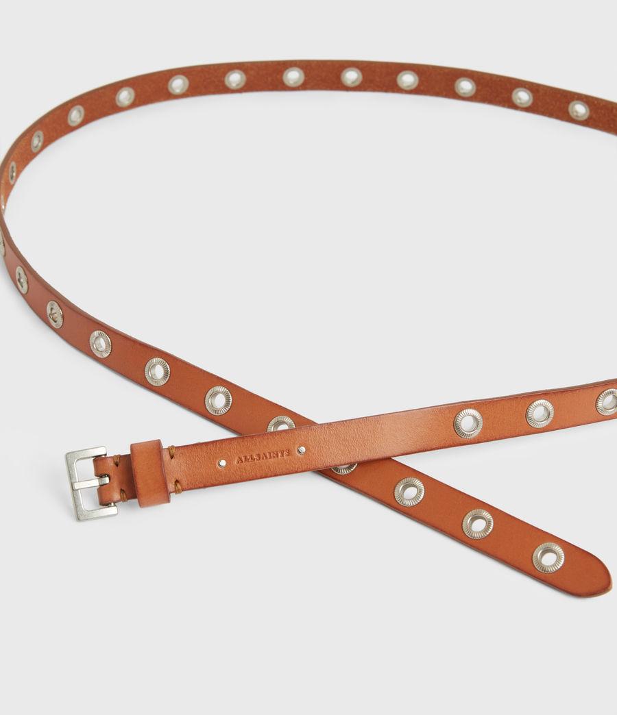 Women's Emily Leather Belt (camel) - Image 4