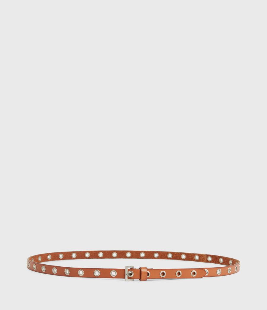 Women's Emily Leather Belt (camel) - Image 5