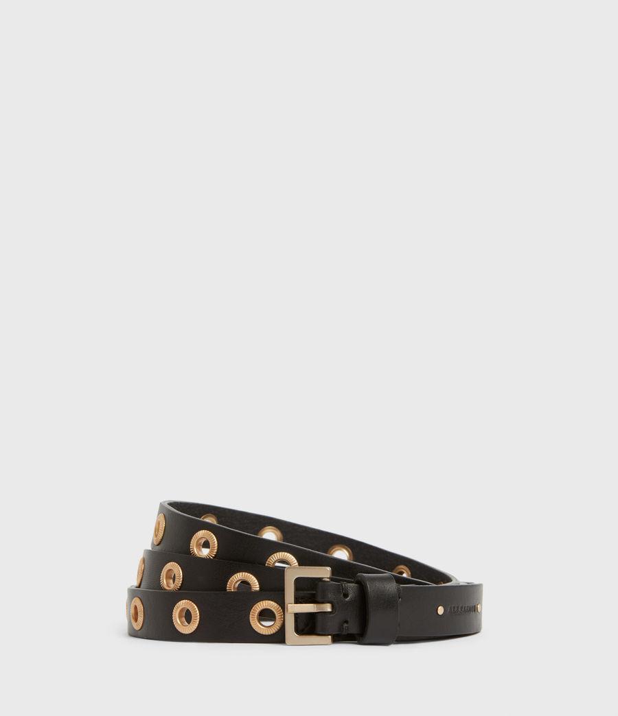 Women's Emily Leather Belt (black) - Image 1
