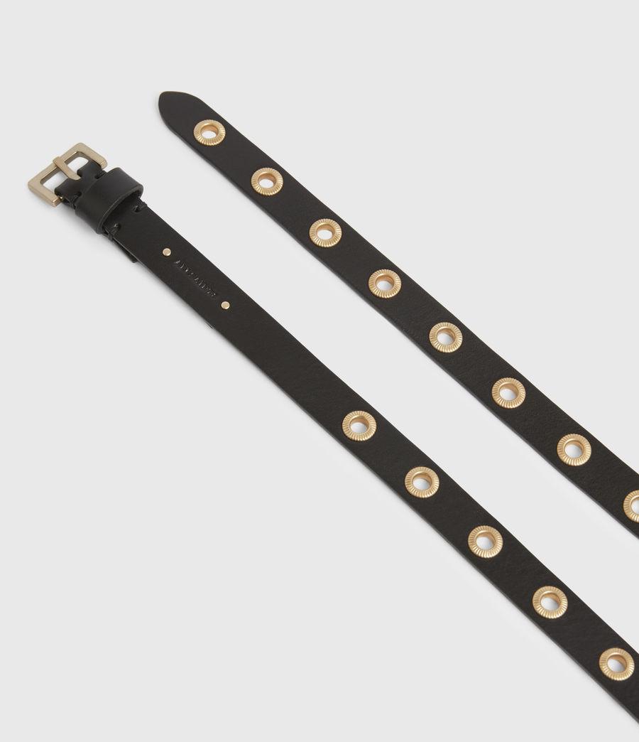 Women's Emily Leather Belt (black) - Image 3