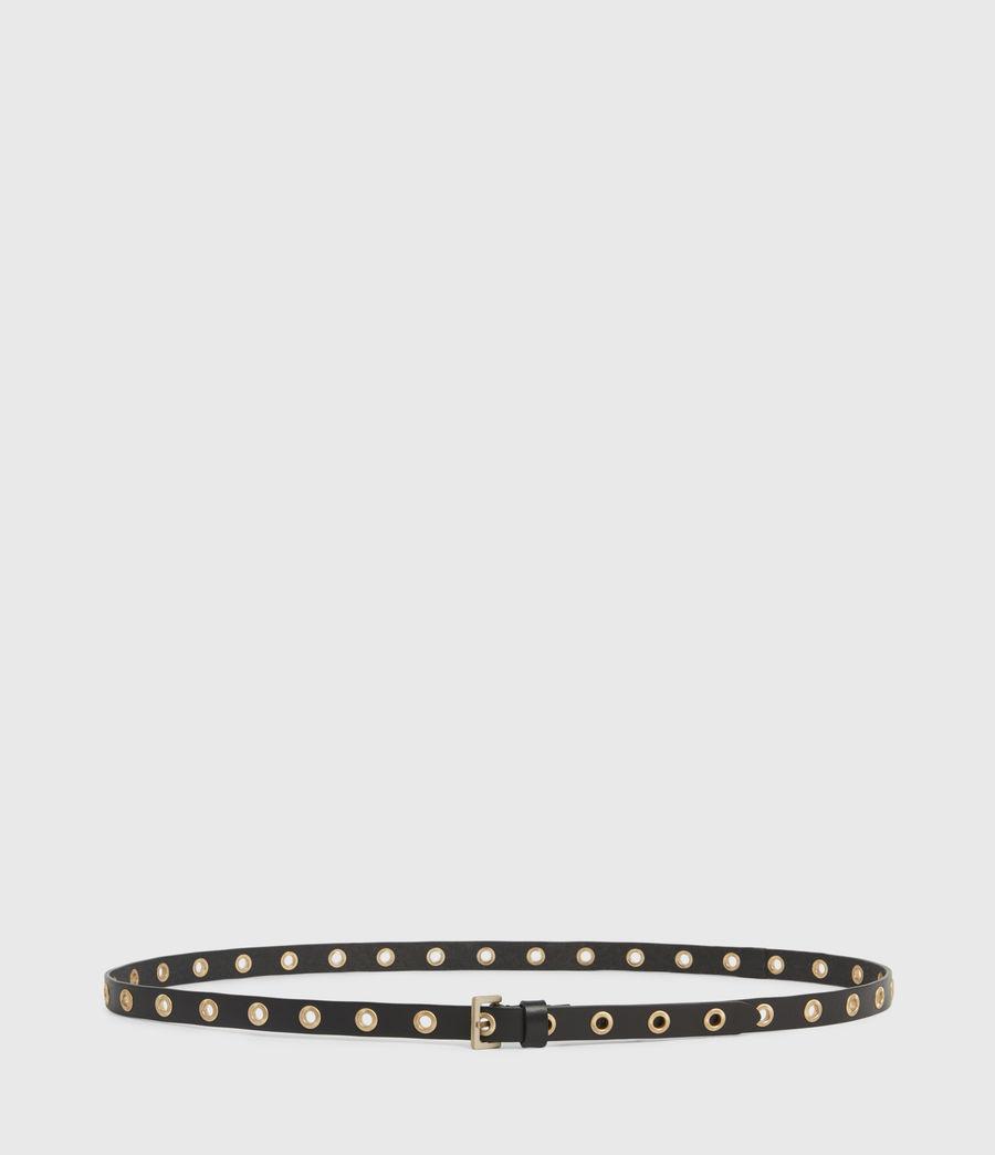 Women's Emily Leather Belt (black) - Image 5