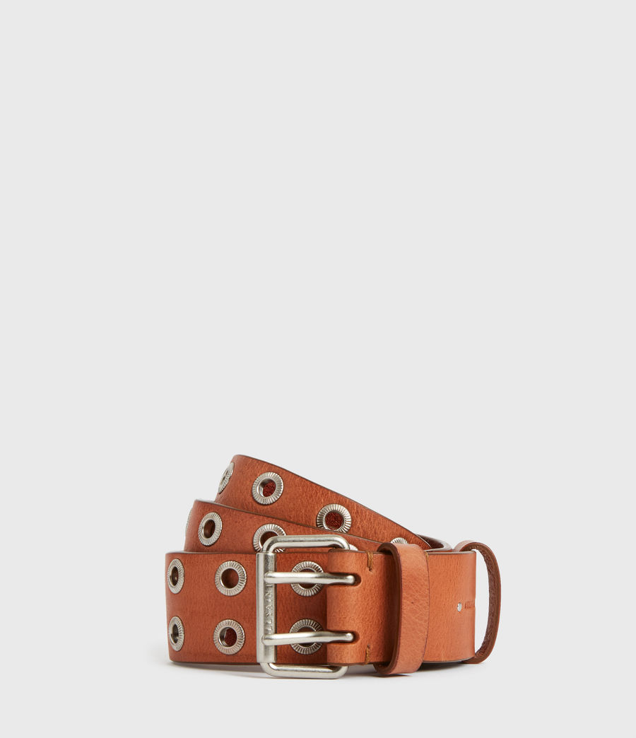 Women's Abigail Leather Belt (camel) - Image 2