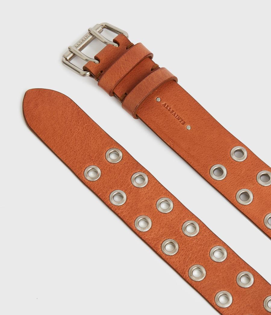 Women's Abigail Leather Belt (camel) - Image 3