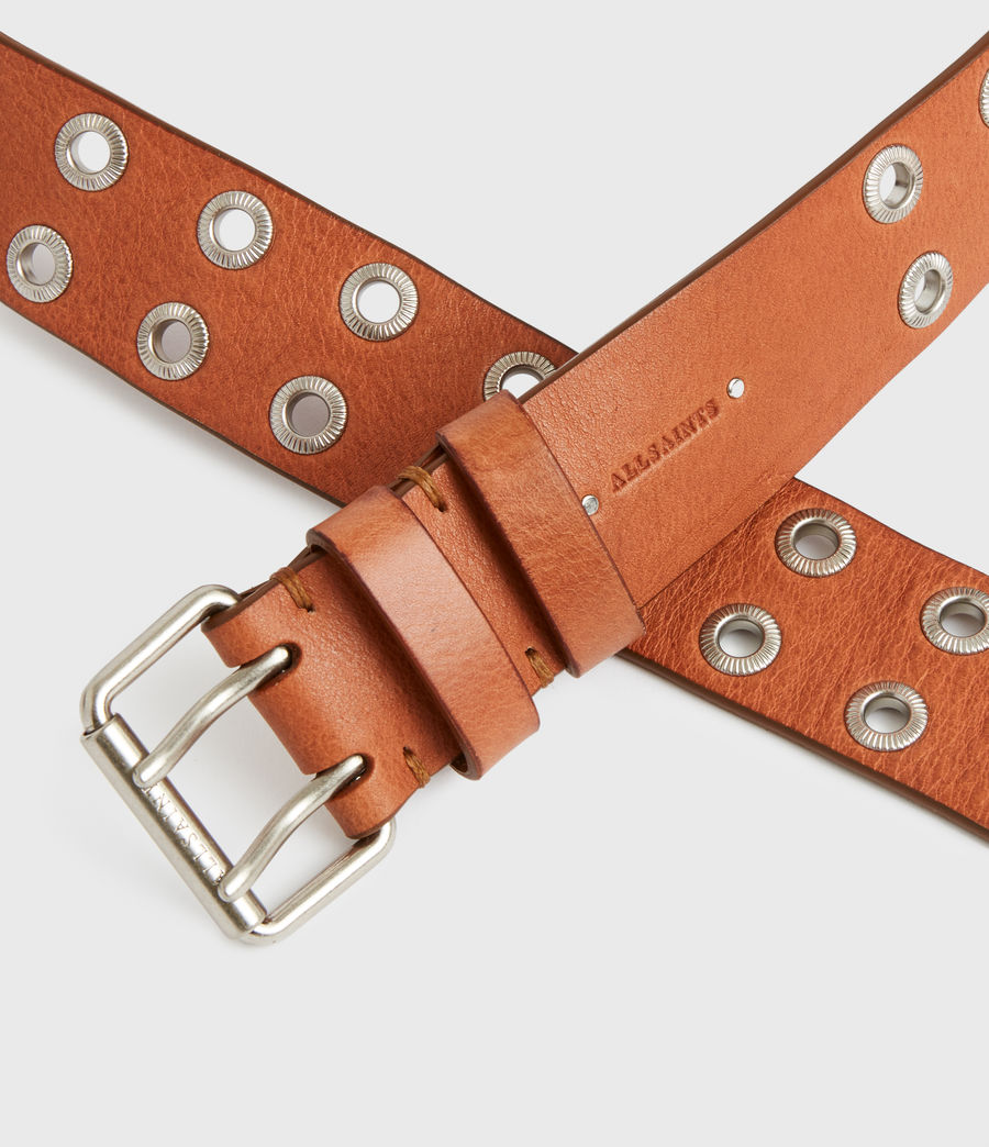 Women's Abigail Leather Belt (camel) - Image 5