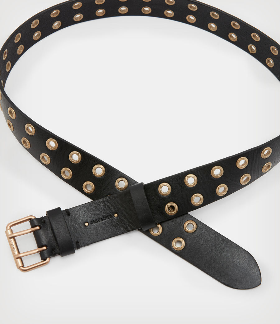 Women's Abigail Leather Belt (black) - Image 2