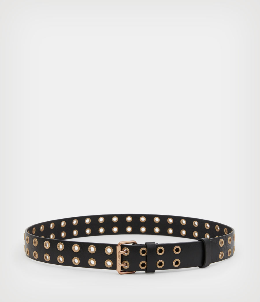 Women's Abigail Leather Belt (black) - Image 4