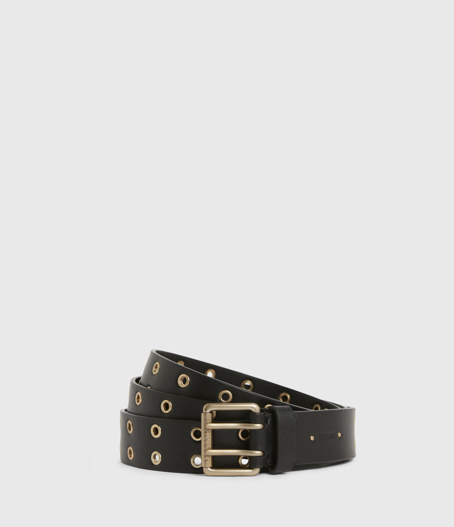 Womens Iryna Leather Wrap Belt (black_gold) - Image 1