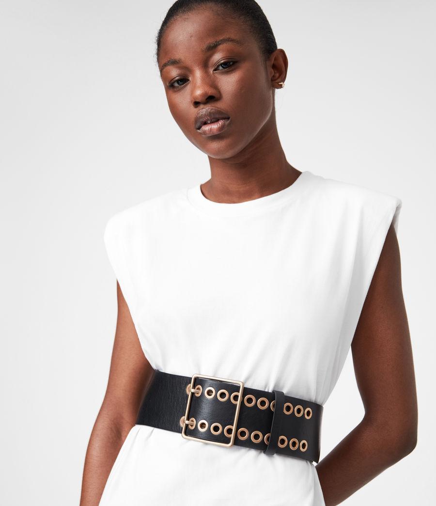 Womens Ella Leather Belt (black) - Image 1