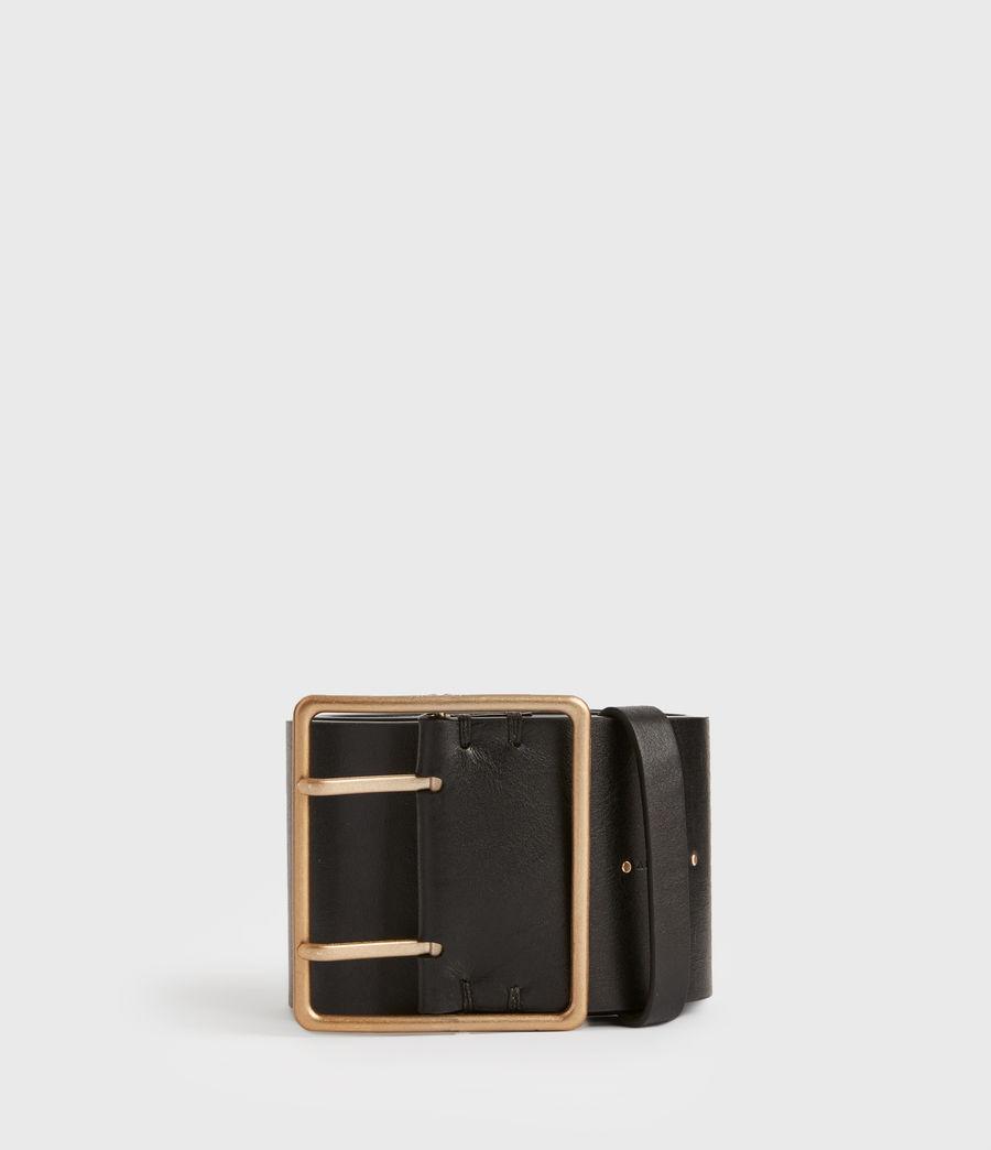 Womens Ella Leather Belt (black) - Image 2