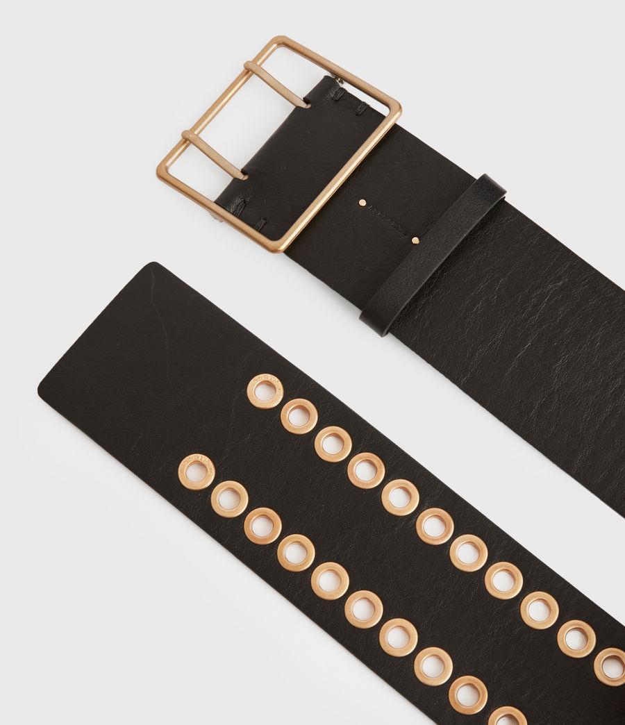 Womens Ella Leather Belt (black) - Image 3
