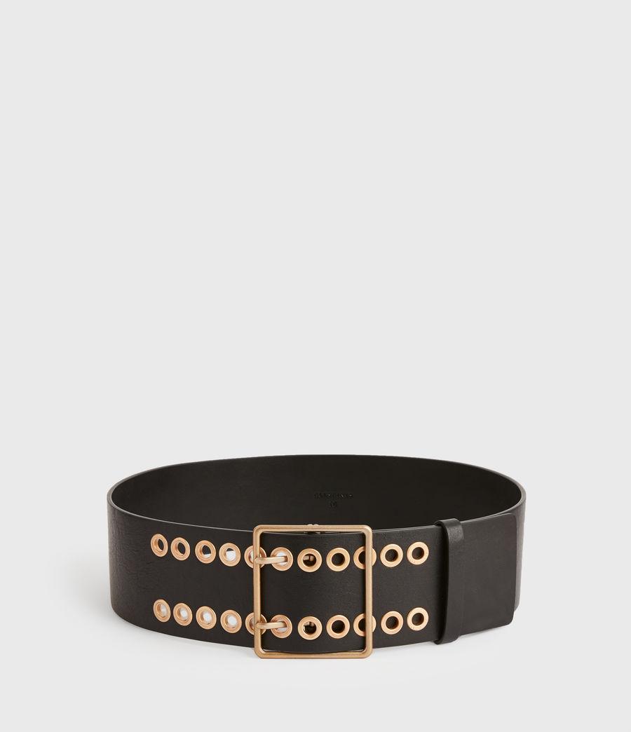 Womens Ella Leather Belt (black) - Image 5