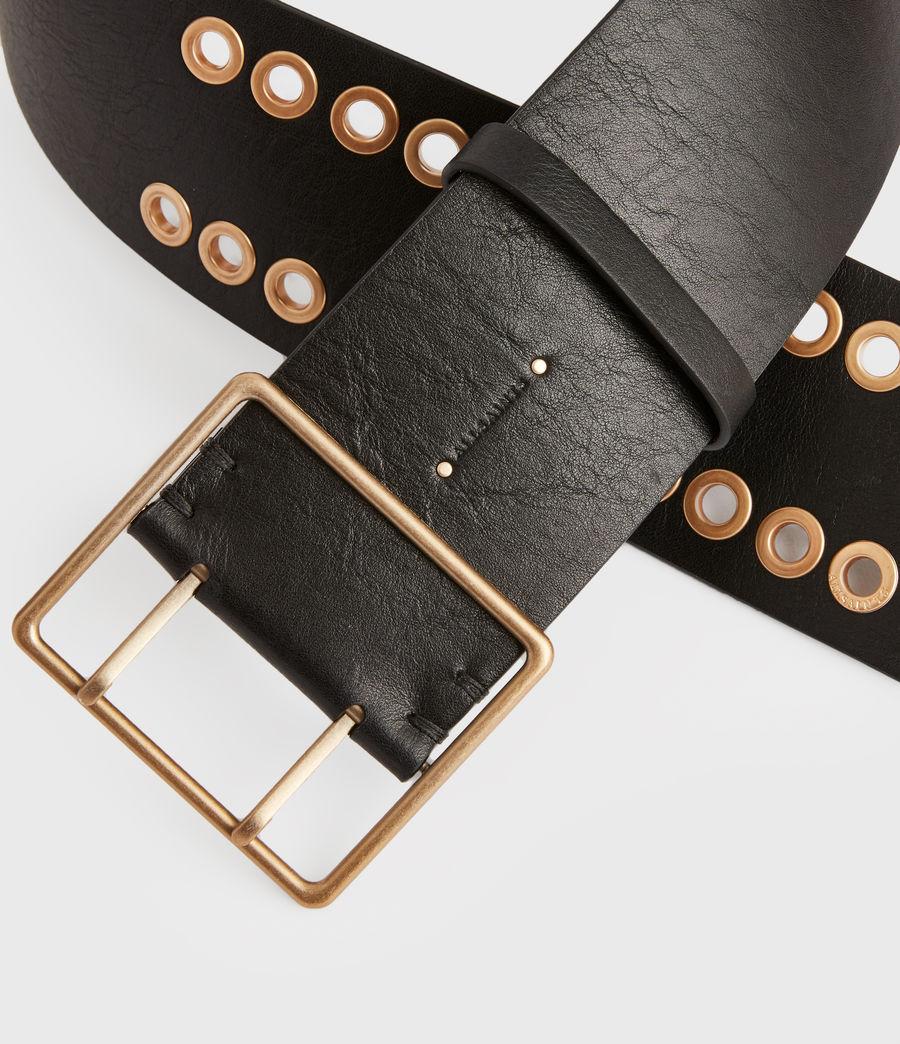 Womens Ella Leather Belt (black) - Image 6