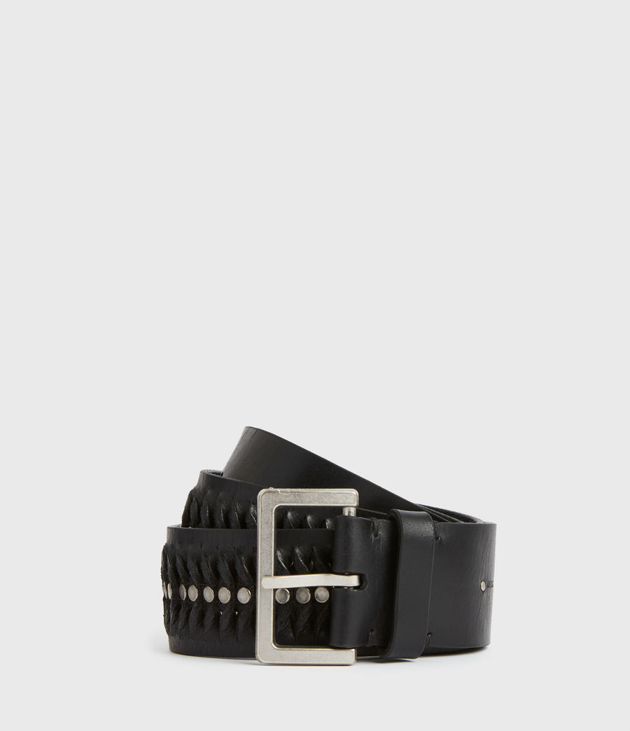 Women's Cleo Leather Belt (black) - Image 2