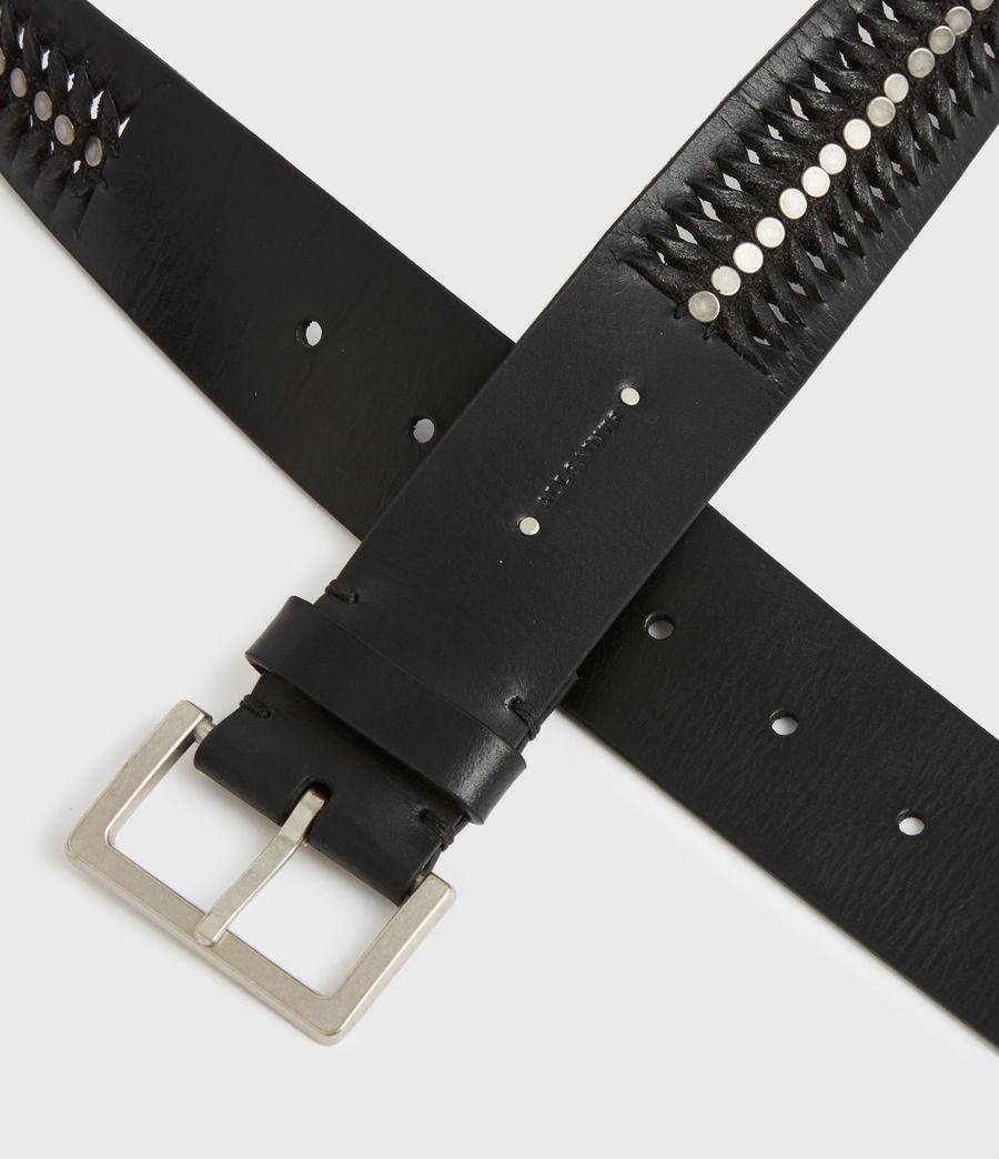Women's Cleo Leather Belt (black) - Image 4