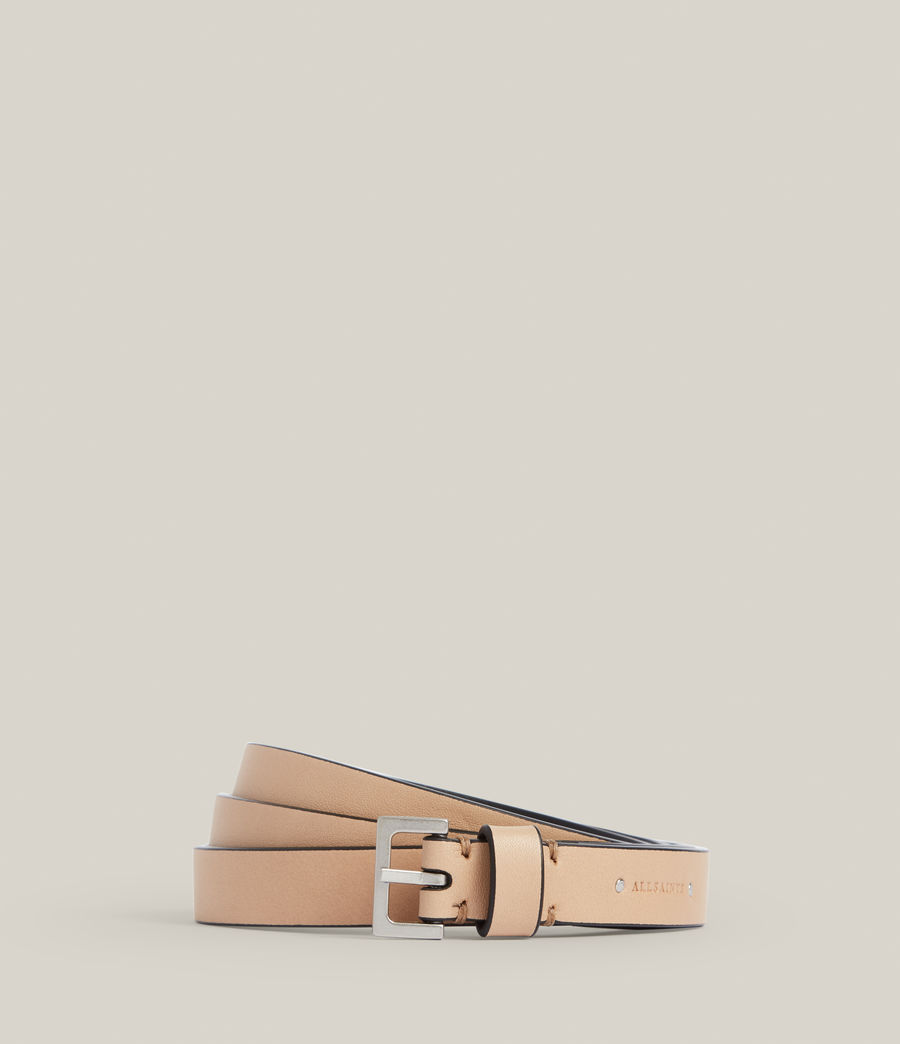 Women's Maya Leather Belt (taupe) - Image 1