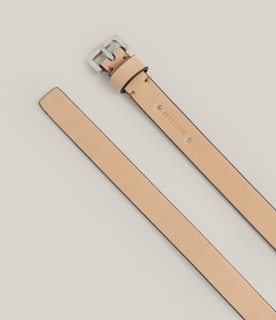 Women's Maya Leather Belt (taupe) - Image 3