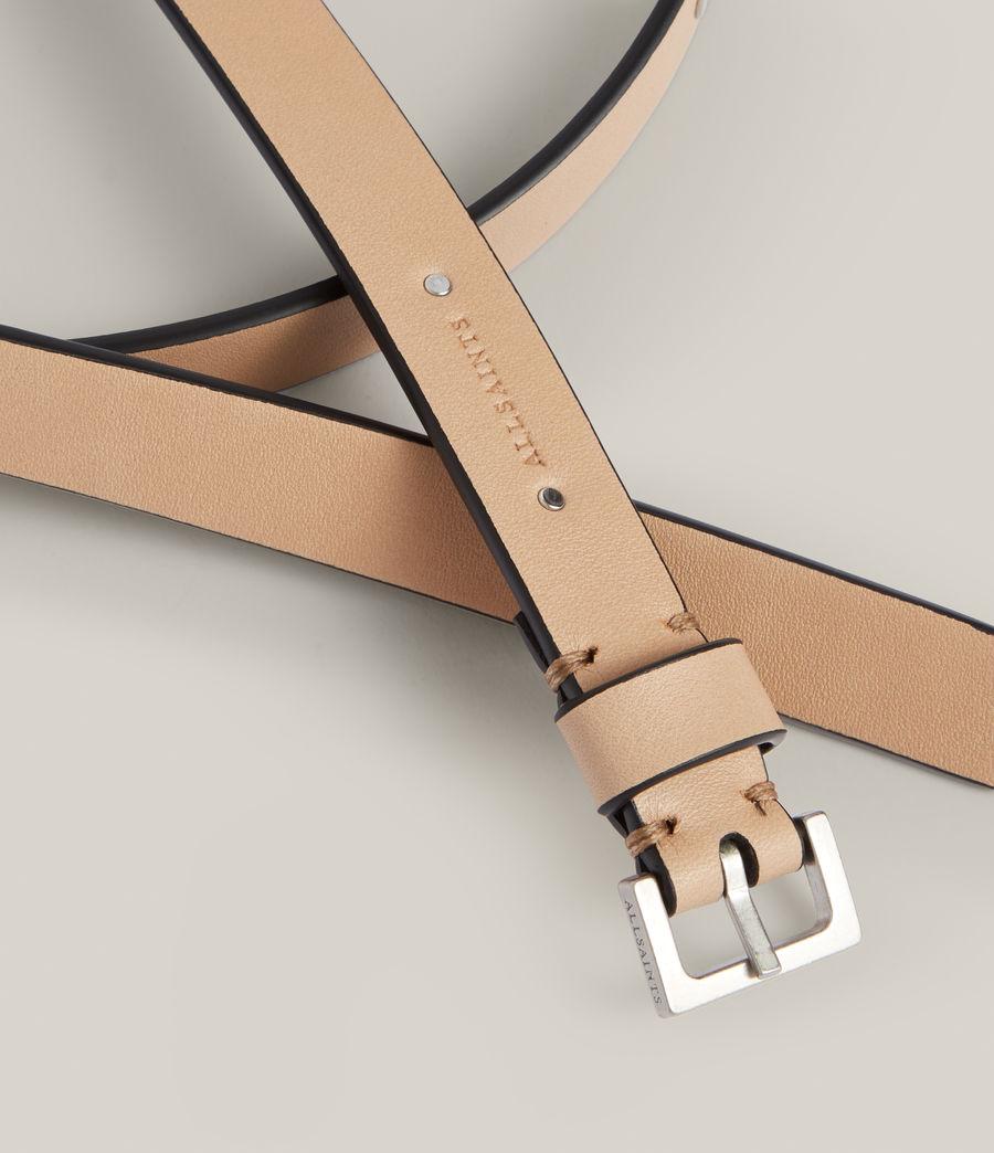Women's Maya Leather Belt (taupe) - Image 4