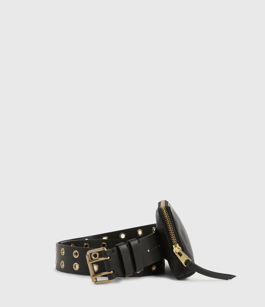 Women's Iryna Removable Bag Leather Belt (black_gold) - Image 1