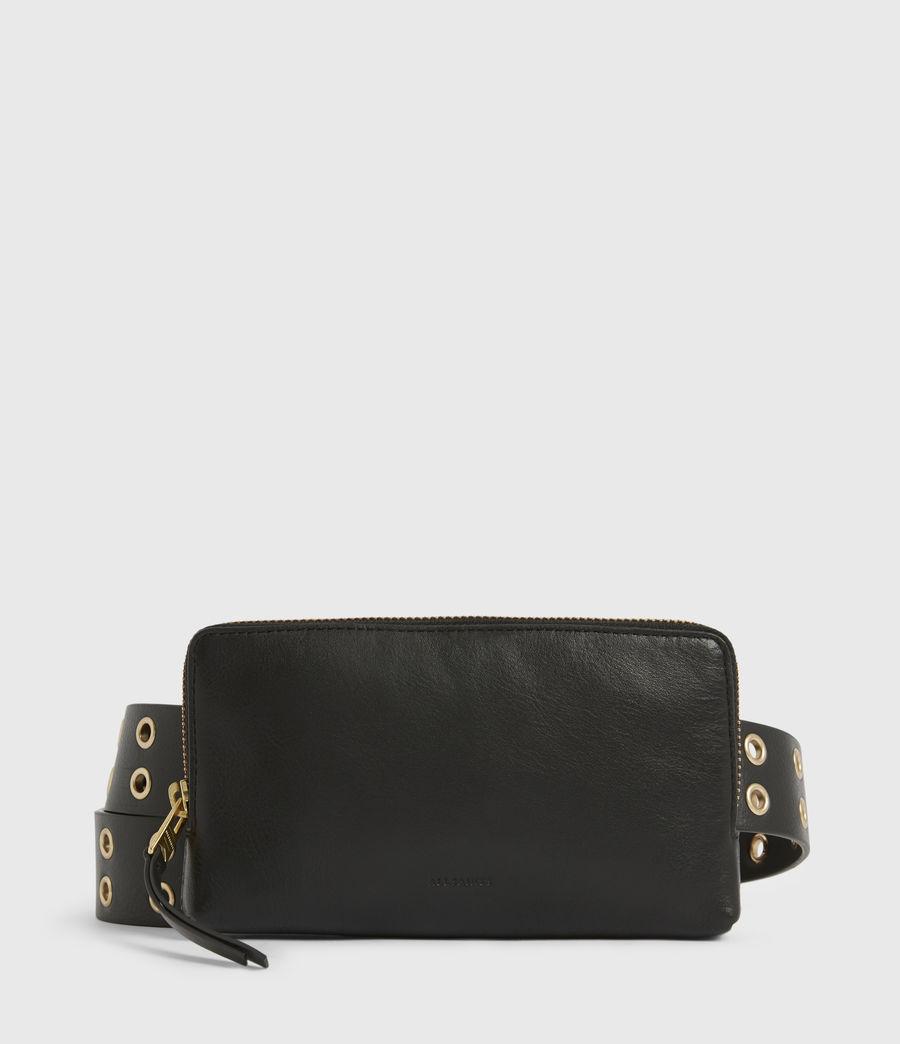 Women's Iryna Removable Bag Leather Belt (black_gold) - Image 3