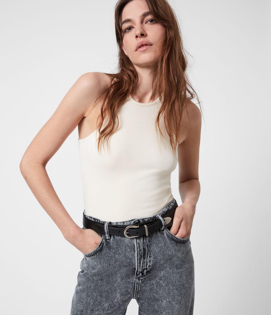 Women's Evelyn Leather Belt (black) - Image 1