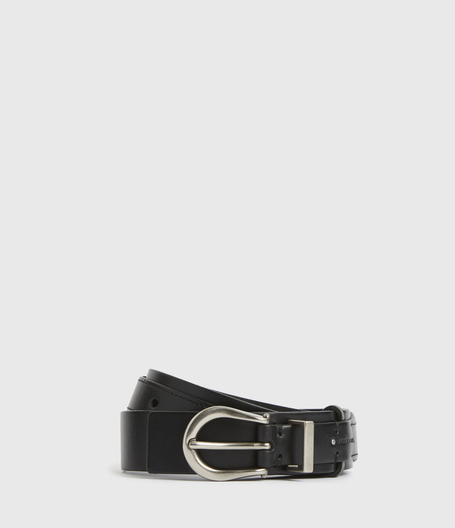 Women's Evelyn Leather Belt (black) - Image 2