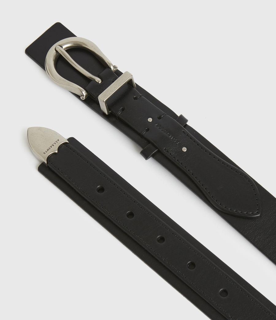 Women's Evelyn Leather Belt (black) - Image 3
