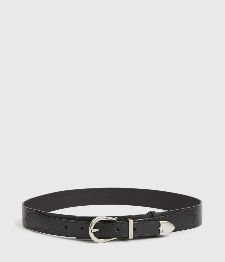 Women's Evelyn Leather Belt (black) - Image 5