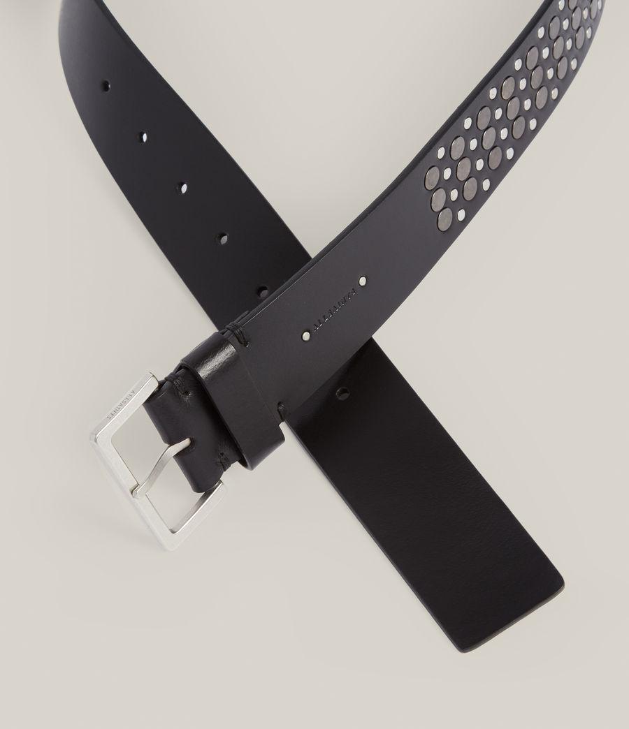Women's Clara Leather Belt (black_gunmetal) - Image 3