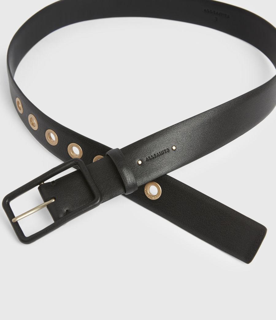 Women's Olivia Leather Belt (black_warm_brass) - Image 3