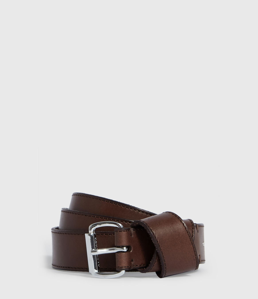 Womens Leonie Leather Belt (bitter_brown) - Image 1