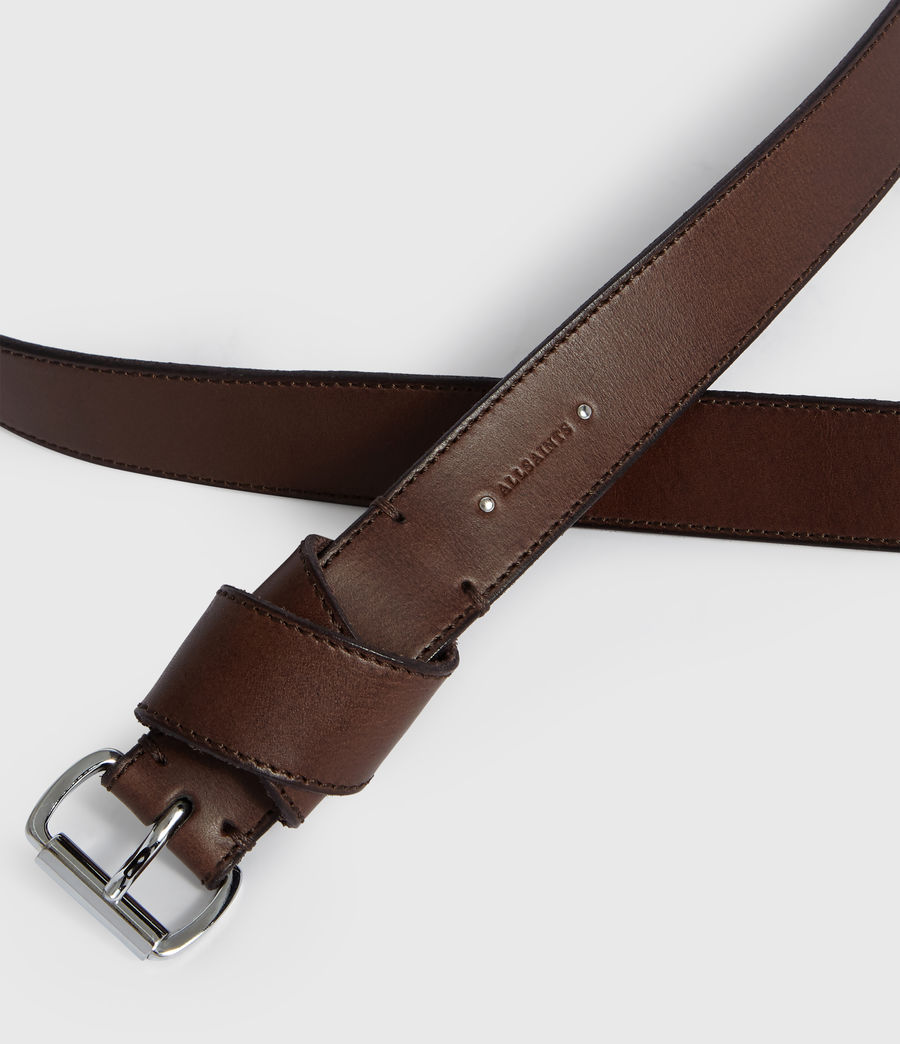 Womens Leonie Leather Belt (bitter_brown) - Image 3