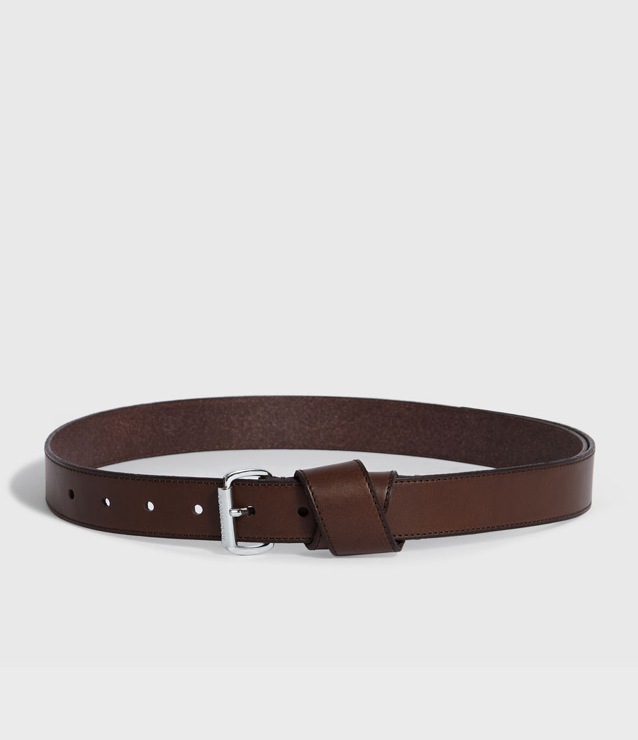 Womens Leonie Leather Belt (bitter_brown) - Image 4