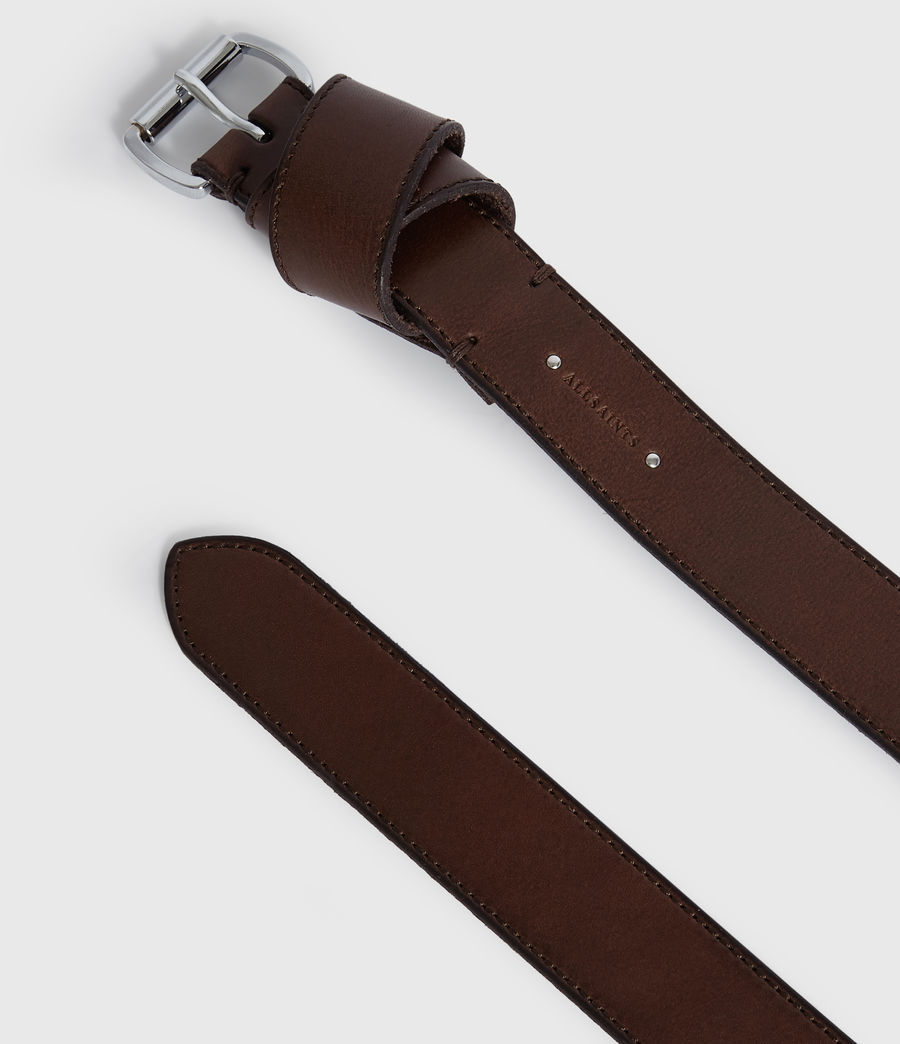 Womens Leonie Leather Belt (bitter_brown) - Image 5